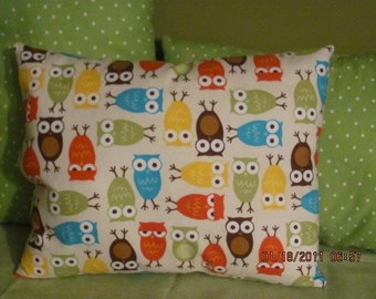 owl pillow, owl nursery, bright owls,nursey throw pillow,owl decor,gender neutral nursery