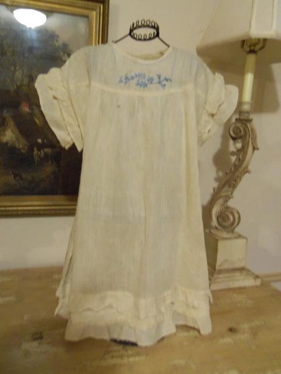 Vintage baby dress embroidery