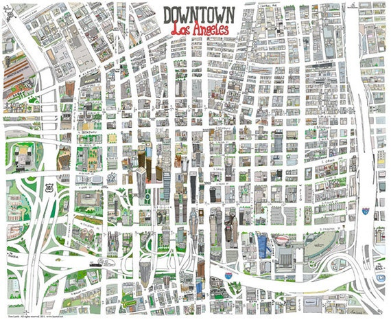 Canny image regarding printable map of downtown los angeles