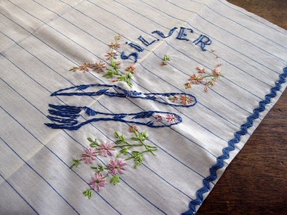 Fork and Knife Kitchen Dish Towel