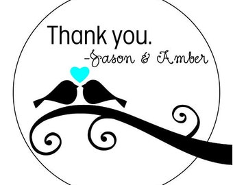 personalized wedding thank you stickers