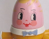 Humpty Dumpty lamp yellow orange ON SALE by vintage nursery lamps on Etsy