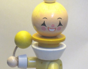 Circus Clown on Bicycle - ON SALE- vintage baby child nursery lamp light by vintagenurserylamps on etsy