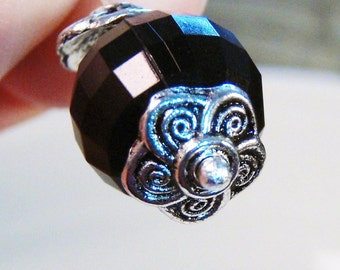 20 silver swirly flower bead cap findings 9mm - bulk - C0078-20