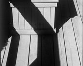 Abstract Decking Black & White Photograph 'Hamptons Deck Shadows'. Limited Edition Print one of only 25. FREE postage