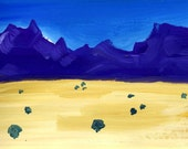 Sparse and beautiful African country 'Cederberg Mountains and Plain' Limited Edition print one of only 25.  FREE postage
