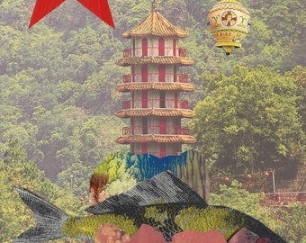 Mad 'Chinese Cracker 5 Collage' Collage Limited Edition Print one of only 25. FREE World postage