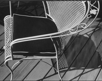 Stark graphic abstract -  Hamptons Deck Chair. Black & White photograph Limited Edition of only 25 FREE world postage