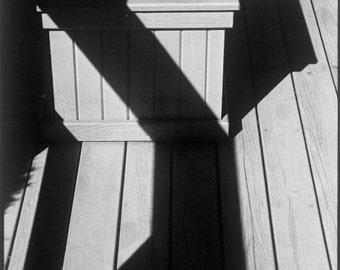 Abstract Decking 'Hamptons Deck Shadows' Black & White Photograph. Limited Edition Print one of only 25. FREE World shipping