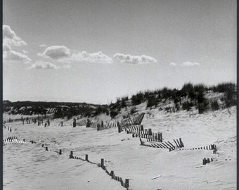 A day at the beach, 'Hamptons Clouds'. Black & White photograph. Limited Edition print one of only 25. FREE world shipping.