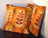 SALE Retro cushion in 50s vintage fabric -  reserved for Donna