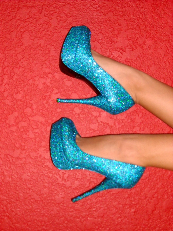 Made to Order Glitter High Heeled Pumps