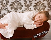 Nightgown For Little Girls In Heavenly Soft Bamboo Cotton  -  Custom Made In Sizes 2T Through 8