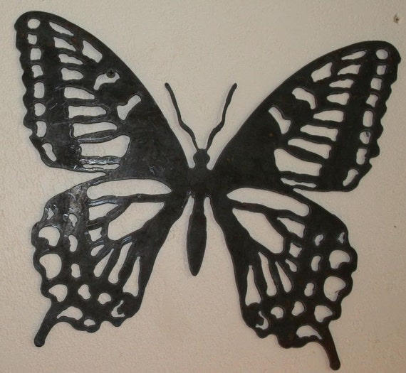 Etsy Butterfly Wall Decor : Rustic butterfly wall decor recycled steel