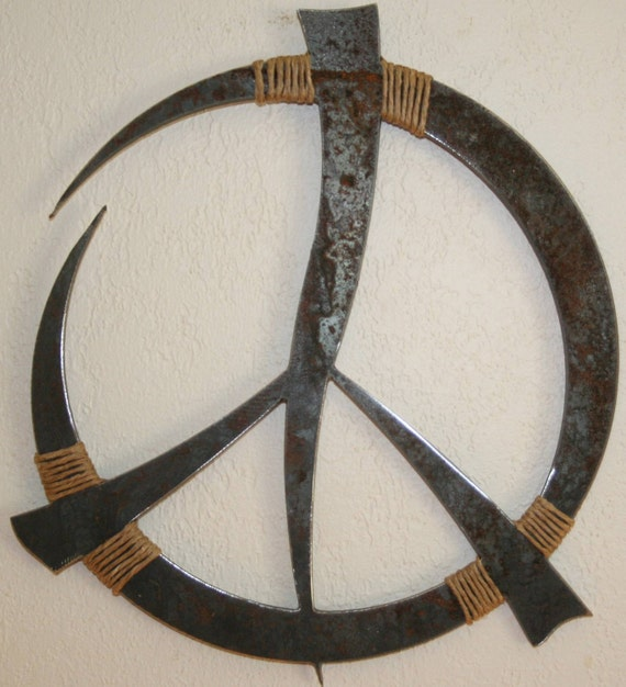 Rustic Peace Sign Wall Decor 13""