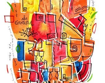 Modeh Ani Gratitude Print (Matted Print)