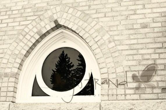 Church Window 5x7 travel photography, Fine Art Photograph, Minimalist