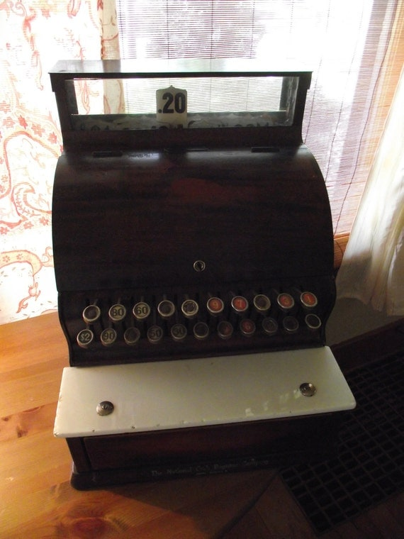 Cash Register Vintage Ncr Antique Candy Store Penny By