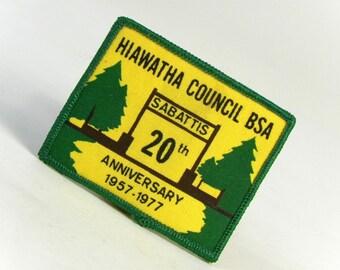 Vintage 1977 Hiawatha Council BSA Badge