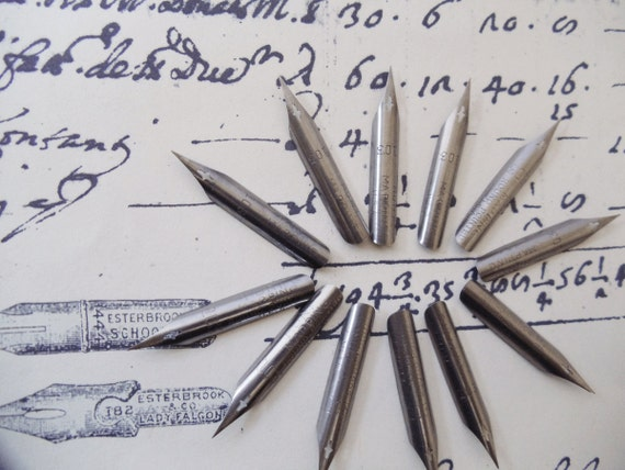 12 Vintage Hunt Calligraphy Pen Nibs Size 103 New Vintage