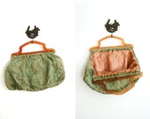 sale 1940s Bag / 40s Sewing Knitting / Free Shipping