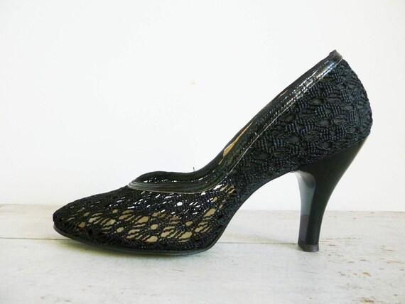 Vintage 60s BLACK WIDOW Heels