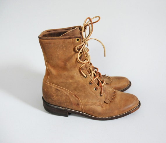 Roper Boots / Ankle Boots / Tan Leather