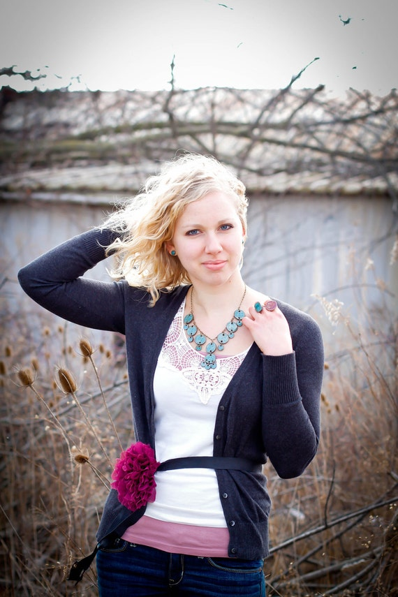 SALE: Deluxe Statement Necklace- Teal