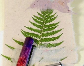 Hand Made Paper Card--Single Bright Green Fern PM-SBGF