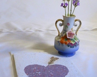 Single Lavender Recycled School Paper Floral Seed Card