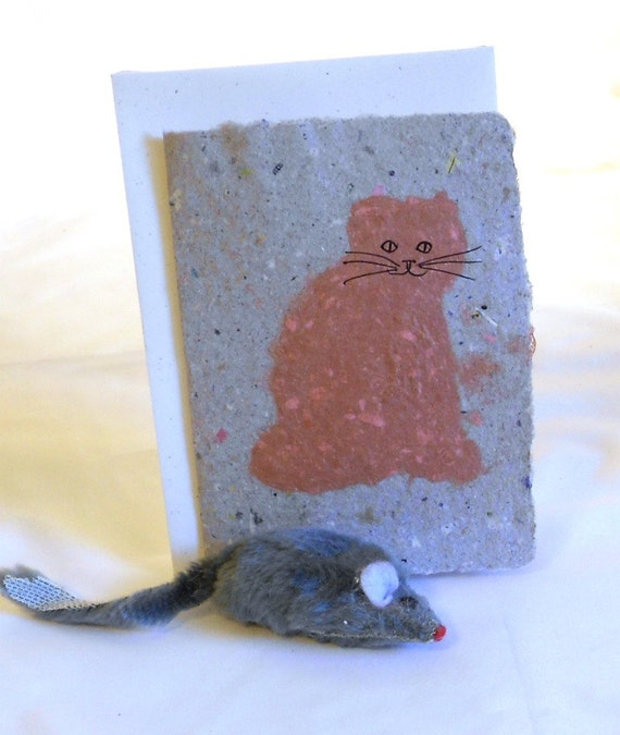 Single Recycled Paper Herb Seed Card--Catnip