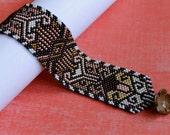 Inspiration Peyote Stitched Cuff