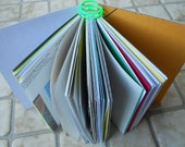 Note/Sketch Book- White Cover w/Green Coil- Recycled Materials