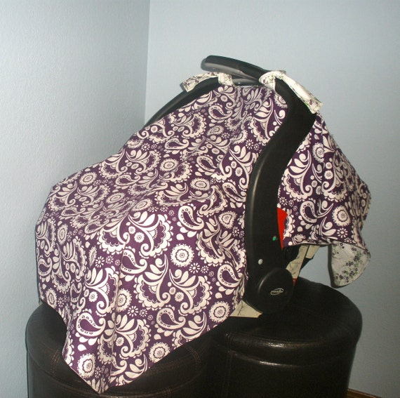 baby car seat cover canopy purple by ittybittyfashion on etsy. Black Bedroom Furniture Sets. Home Design Ideas