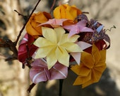 Make Me Smile - Origami Flower Bouquet in Pinks and Yellows