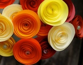 Autumn Sunshine - Paper Rosettes Bouquet