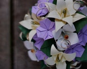 French Country Nuptuals- Eco-chic origami paper wedding bouquet