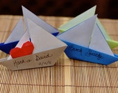 Origami Sailboat Favor Place Cards