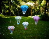 Origami Hot Air Balloons- Set of 5