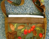 Autumn Purse, Cotton Purse, Fall Motif