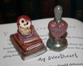 Harry Potter inspired Love Potion Raku Pottery Miniature