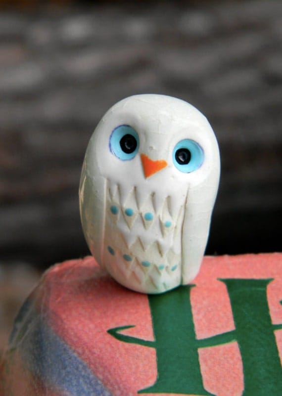 Albus the Clay Owl: Harry Potter Inspired Owlery Miniature