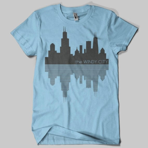 Chicago Skyline Windy City T Shirt