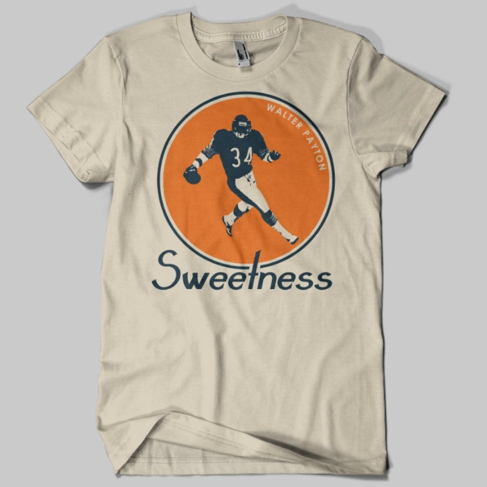 Walter Payton Vintage Chicago Bears T Shirt Sand