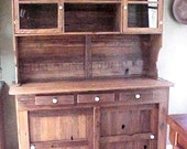 CABINET ~ Crafted to Order ~ COUNTRY PRIMITIVE ~ KiTCHEN / Off Kitchen - Cabinetry - 2 Piece Hutch / Buffet ~ Local Delivery or Pick-Up Only