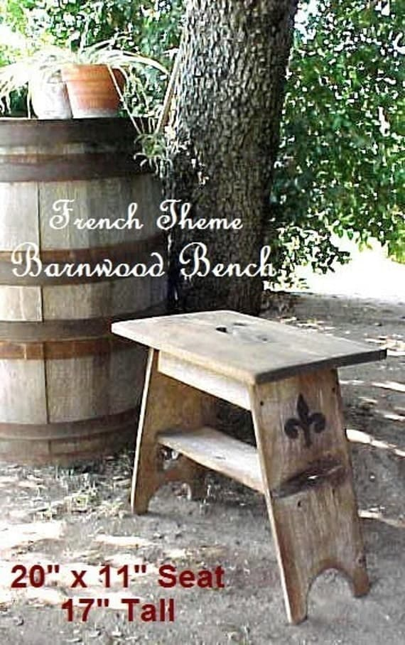 Barnwood Bench Garden Bench Sitting Stool By
