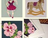 Paper Cut Printed  Greeting Cards (set of 3)