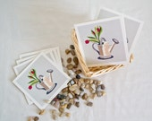 Tulips in Watering Can Greeting Card