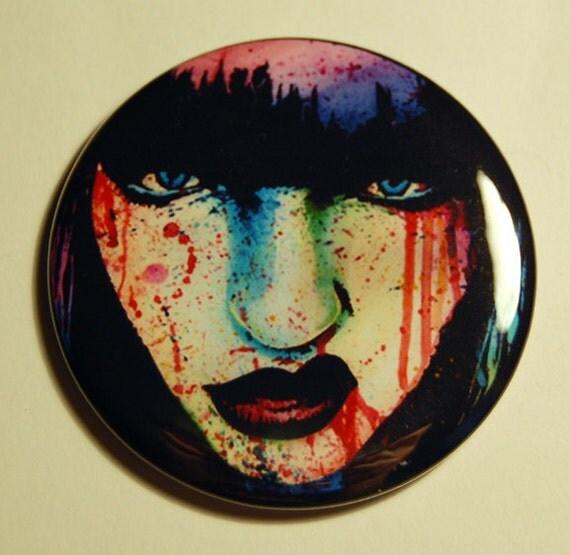 Pocket Mirror Wasted Youth Punk Rock Rainbow Pop Art Portrait Accessory 2.25 inch