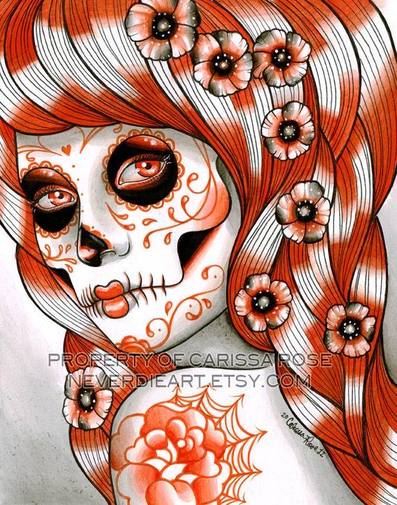 ORIGINAL PAINTING Spectrum Series - Orange 8x10 Watercolor by Carissa Rose